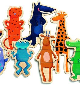 DJECO Crazy Animal Mix & Match Wooden Magnets