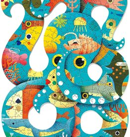 DJECO Octopus  Puzz'Art Shaped Jigsaw Puzzle 350pc