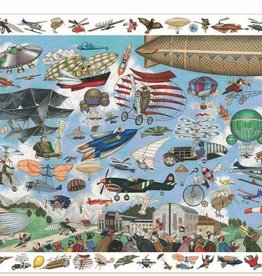 DJECO Aero Club 200pc Observation Jigsaw Puzzle + Poster