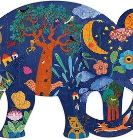 DJECO Elephant  Puzz'Art Shaped Jigsaw Puzzle