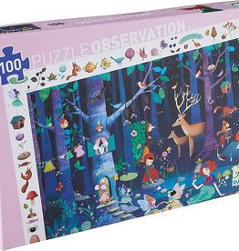 DJECO Enchanted Forest 100pc Observation Jigsaw Puzzle + Poster