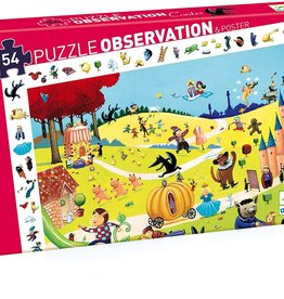 DJECO Tales Observation 54pc Jigsaw Puzzle + Poster
