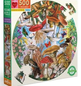 Eeboo Mushrooms and Butterflies 500pc round