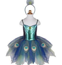 Great Pretenders Pretty Peacock Dress & Headband, Size 5-6