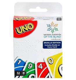 mattel Games UNO Braille