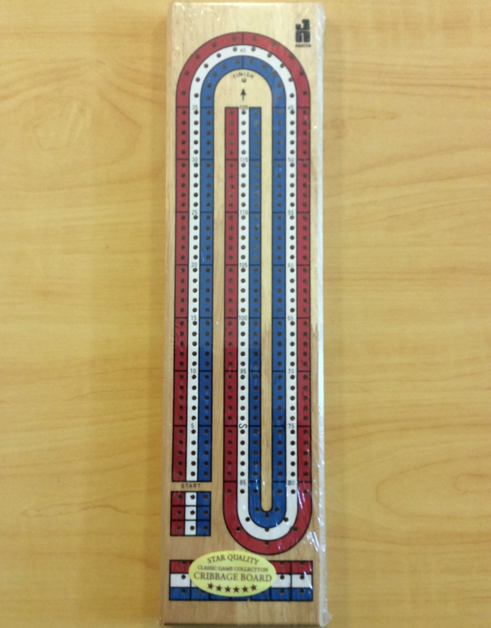 John Hansen 3 Track Color Cribbage Board