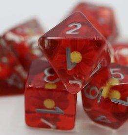 Foam Brain Games Scarlet Daisy Poly 7 Dice Set