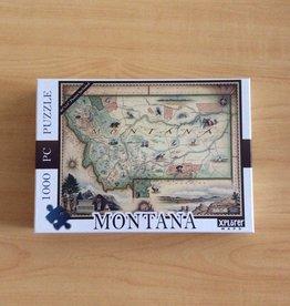 Xplorer Maps Montana Map 1000pc Puzzle
