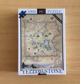 Xplorer Maps Yellowstone Map 1000 Pc Puzzle