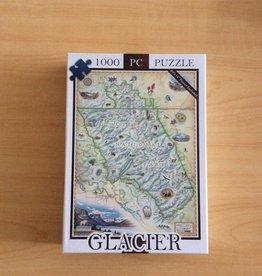 Xplorer Maps Glacier Map 1000 pc Puzzle