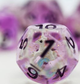 Foam Brain Games Purple Unicorn Poly 7 Dice Set