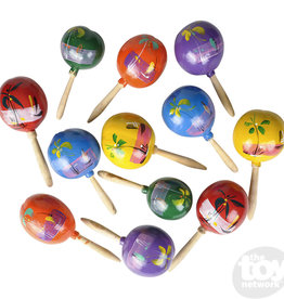 """The Toy Network 7"""" Wooden Maracas (pair)"""