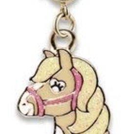 Charm It Gold Glitter Horse Charm