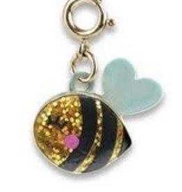 Charm It Gold Glitter Bee Charm