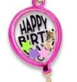 Charm It Gold Birthday Balloon Shaker Charm