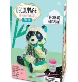 Bright Stripes Decoupage Panda