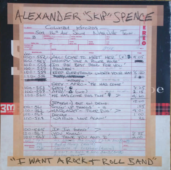 "Rock/Pop Alexander ""Skip"" Spence - I Want A Rock + Roll Band b/w I Got A Lot To Say / Mary Jane"