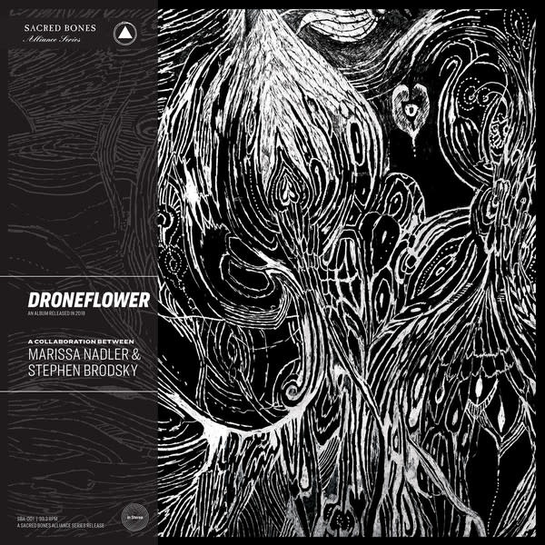 Rock/Pop Droneflower: A Collaboration Between Marissa Nadler & Stephen Brodsky (Clear And Black Marbled Vinyl)