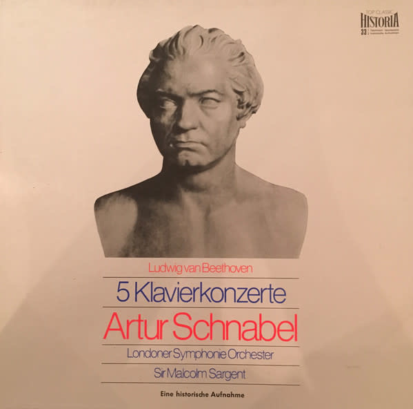Classical Artur Schnabel Plays Beethoven: Five Piano Concertos (4LP Box Set) (VG+)