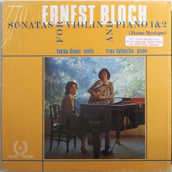 Classical Bloch - Sonatas For Violin And Piano 1 & 2 - Kamei / Vallecillo (VG++)