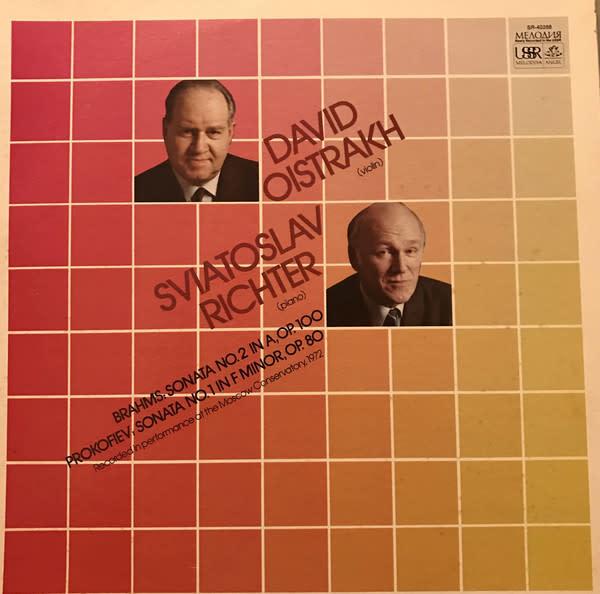 Classical Brahms / Prokofiev - Oistrakh / Richter - Sonata No. 2 / Sonata No. 1 (VG+)