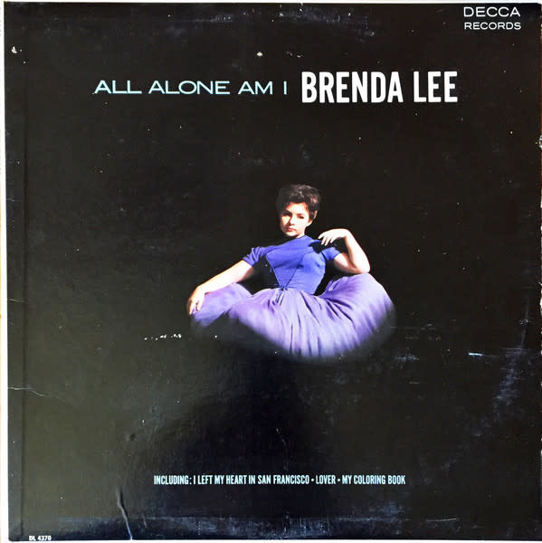 Rock/Pop Brenda Lee - All Alone Am I (1963 CA Mono) (G+)