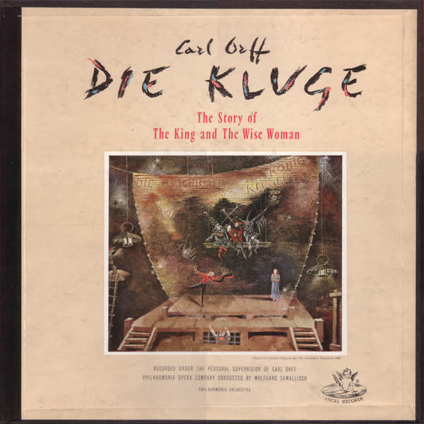 Classical Carl Orff: Die Kluge - Schwarzkopf, Cordes, Frick (2LP Box) (VG+) (Price Reduced: box seam)