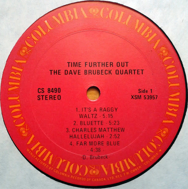Jazz Dave Brubeck Quartet - Time Further Out (Miro Reflections) (70s-80s Stereo Reissue) (NM)
