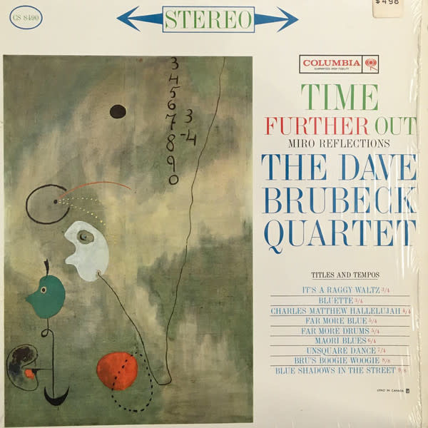 Jazz Dave Brubeck Quartet - Time Further Out (Miro Reflections) (Mid-late 60s Press, 2-Eye Label) (VG+)