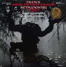 Classical Franck / Szymanowski - Sonata For Violin & Piano / Mythes - Wilkomirska / Barbosa (VG+)