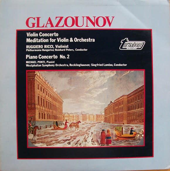Classical Glazounov - Violin / Piano Concerto - Ricci / Ponti (VG+)