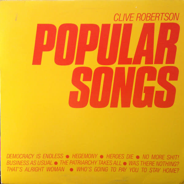 Experimental Clive Robertson - Popular Songs (VG)