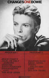 Rock/Pop David Bowie - Changesonebowie