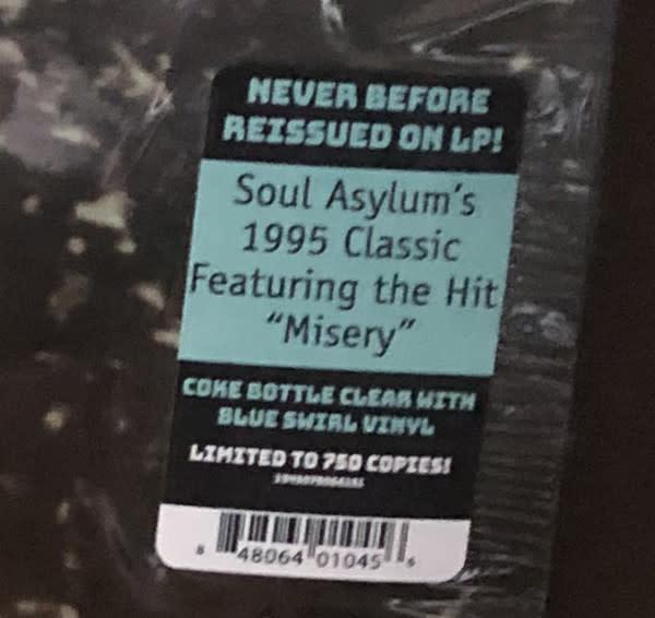 Rock/Pop Soul Asylum - Let Your Dim Light Shine (Coke Bottle Clear With Blue Swirl)