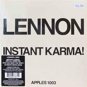 Rock/Pop John Lennon/Yoko Ono - Instant Karma!/Who Has Seen The Wind?