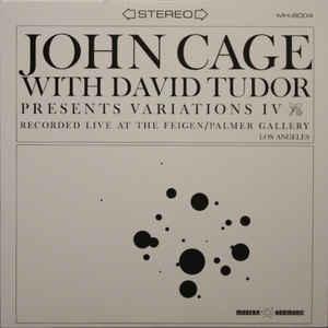 Experimental John Cage With David Tudor - Variations IV (Clear vinyl)