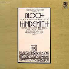Classical Bloch/Hindemith - Suite For Viola And Piano/Sonata For Viola And Piano, OP. 25, No. 4 - Yizhak Schotten/Katherine Collier (VG+)