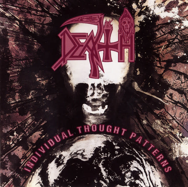 Metal Death - Individual Thought Patterns (Clear Vinyl with White Pinwheels and Splatter)