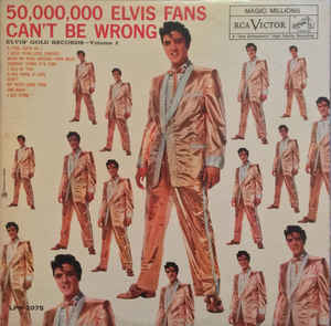 Rock/Pop Elvis Presley - 50,000,000 Elvis Fans Can't Be Wrong-Elvis' Gold Records Volume 2 (Cover wear) (VG)