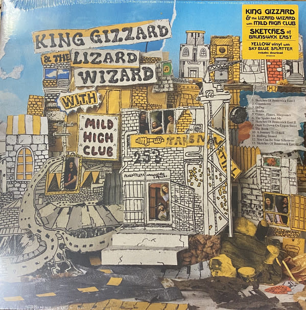 Rock/Pop King Gizzard And The Lizard Wizard With Mild High Club - Sketches Of Brunswick East (Yellow Vinyl With Sky Blue Spatter)