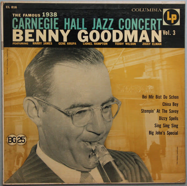 Jazz Benny Goodman - Carnegie Hall Jazz Concert Vol. 3 (70s Reissue) (VG) (price sticker on cover)