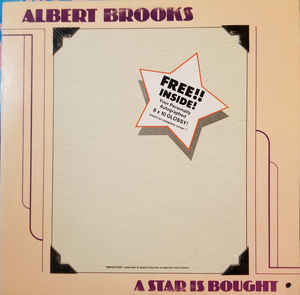 Comedy Albert Brooks - A Star Is Bought (Hole punch through upper left corner of cover) (VG)