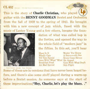 Jazz Charlie Christian - With The Benny Goodman Sextet And Orchestra (US 1965 repress. Cover wear) (VG)