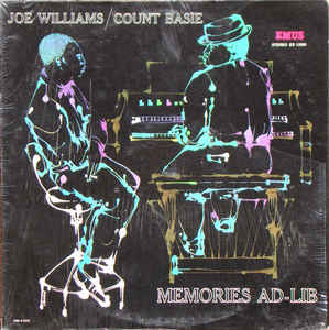 Jazz Joe Williams & Count Basie - Memories Ad-Lib (Moderate cover wear) (VG+)
