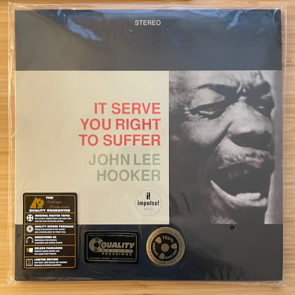 Blues John Lee Hooker - It Serves You Right To Suffer (Analogue Productions 180g 45rpm 2LP) (mild corner dent, 1in. seam splitting on top)