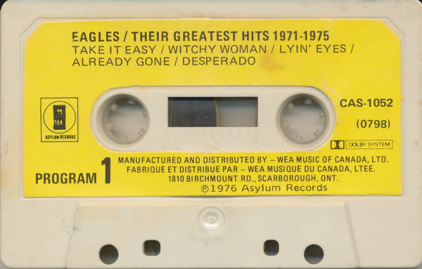 Rock/Pop Eagles - Their Greatest Hits 1971-1975 (labels on cassette have stains)