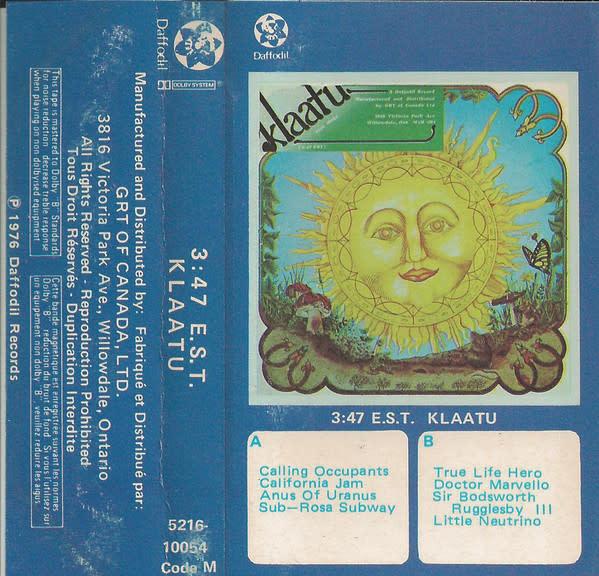 Rock/Pop Klaatu - 3:47 E.S.T.