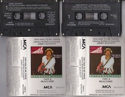 Rock/Pop Jimmy Buffett - You Had To Be There (In Concert) 2xCassette