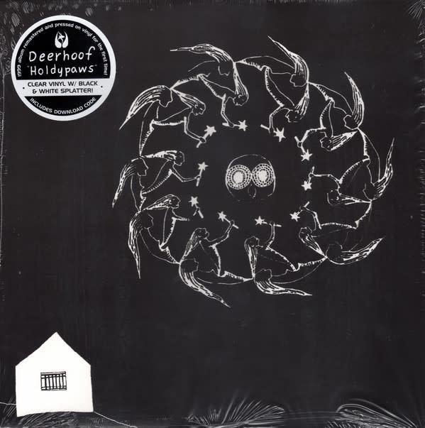 Rock/Pop Deerhoof - Holdypaws (Clear w/Black & White Splatter)