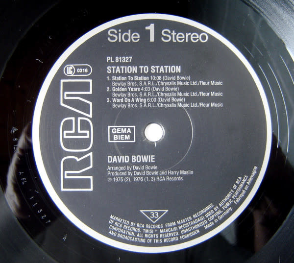 Rock/Pop David Bowie - Station To Station ('84 Europe Press) (VG, clicks/pops between tracks and in quiet parts)